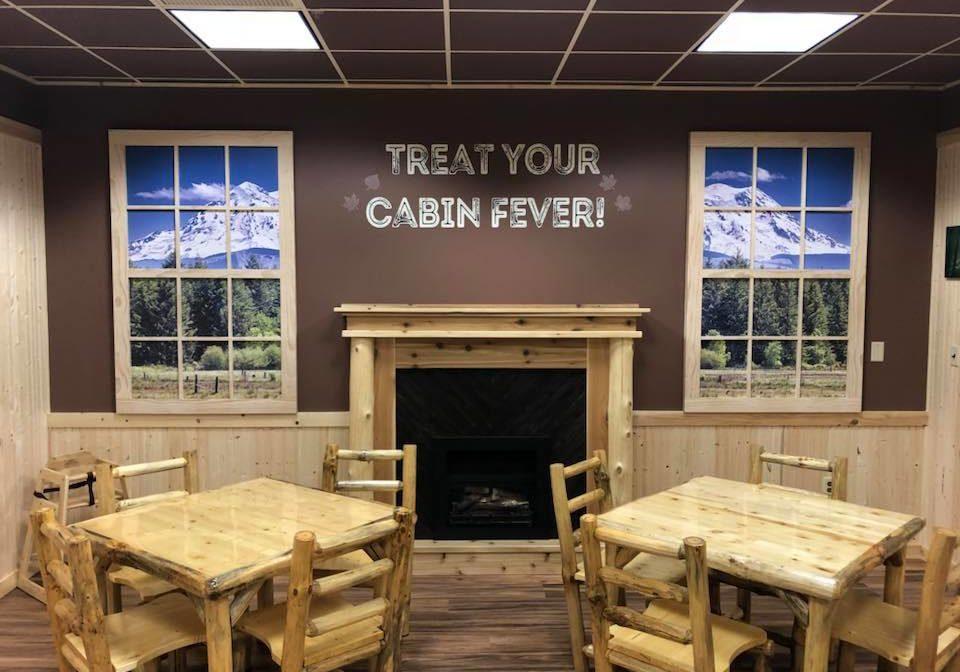 lil coffee cabin interior